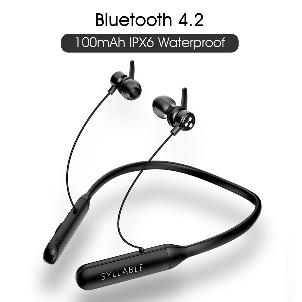 2019 Original SYLLABLE Q3 Volume Control Bluetooth V4.2 Earphone Wireless Stereo Magnetic Earbud SYLLABLE Q3 100mAh Headset
