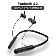 2019 Asli Syllable Q3 Kontrol Volume Bluetooth V4.2 Earphone Stereo Nirkabel Earbud Magnetik Suku Kata Q3 100 MAh Headset(China)
