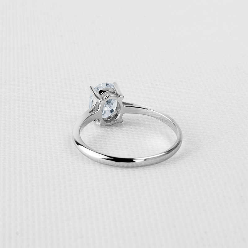 QYI แหวน 1.25 กะรัตรูปไข่ 925 เงินสเตอร์ลิงเครื่องประดับหมั้นผู้หญิงเครื่องประดับ Shining Zircon งานแต่งงานแหวนของขวัญ