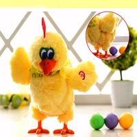 Newest Electric Musical Dancing Laying Eggs Funny Educational Baby Kid Toy Chickens Crazy Singing Dancing Electric Pet Plush Toy