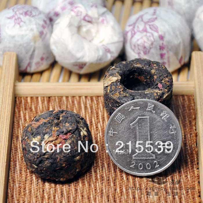 [GRANDNESS] 250g, 2007 yr Yunnan Haiwan Old Comrade Rose Puerh Tea Pu'er Tuo Cha mini Ripe * Lao Tong Zhi Famous Brand Pu er