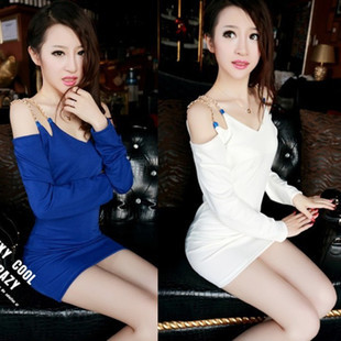 Free Shipping Fashion 2013 Spring Summer Women Sexy Slim Beading Shoulder Straps Dress Ladies Evening Party Skirt 2 Colors