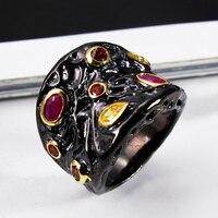 Elegant Jewelery New Super Sell Women Rings Pink Siam Topaz Cubic Zirconia Bezel Setting 18K Gold