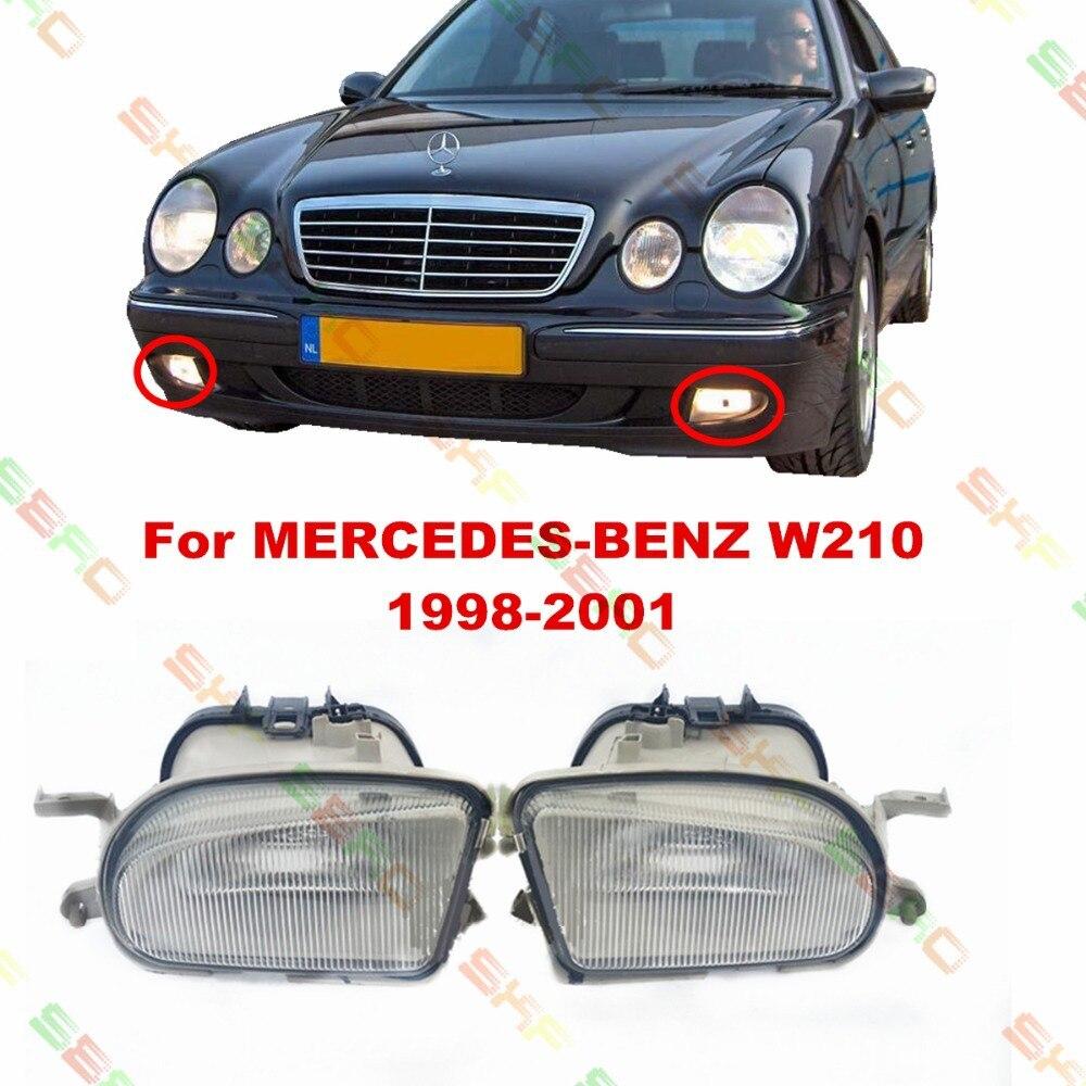 Для Мерседес-Бенц Е-класса W210 1998/99/2000/01 стайлинга автомобилей противотуманные фары противотуманные фары 1 комплект стекло картины