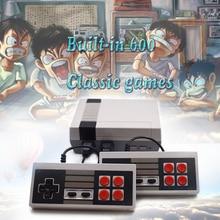 Retro Mini TV Handheld Console de Videogame Embutido 600 Jogos Clássicos de Lazer da Família Dupla Gamepad Jogo Do Jogador