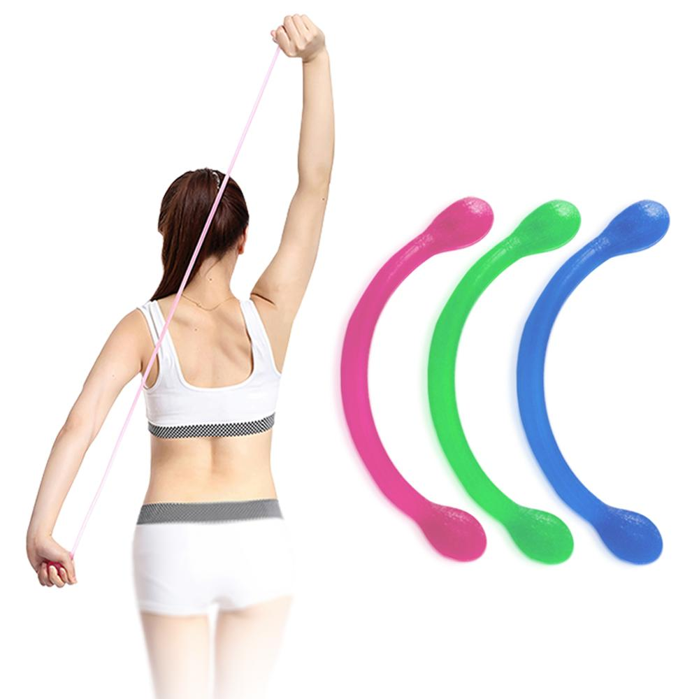 Muscle Resistance Bands Silicone Fitness Yoga Workout Pulling Exerciser Pull Rope Body Building Free Shipping