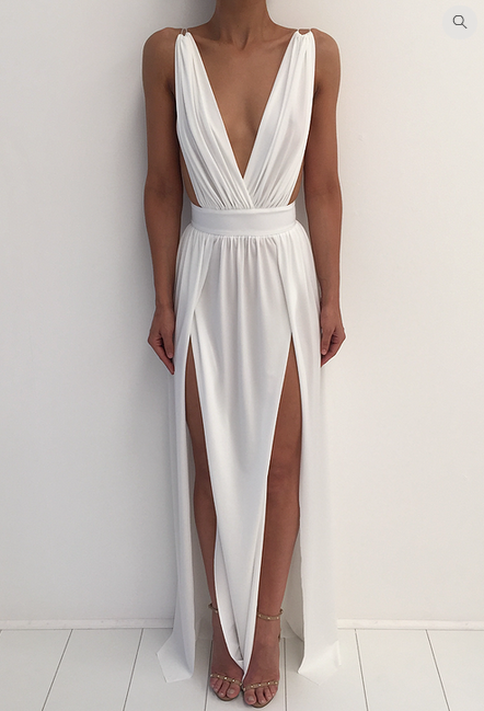 maxi sexy party club beach <font><b>dress</b></font> long Floor Length white sundress sleeveless backless <font><b>dress</b></font> runway 2018 image