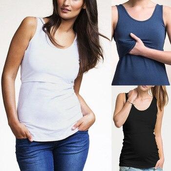 3e7ee0121 Envsoll enfermería ropa de maternidad del verano Chaleco de lactancia embarazo  ropa para mujeres embarazadas Tops madre