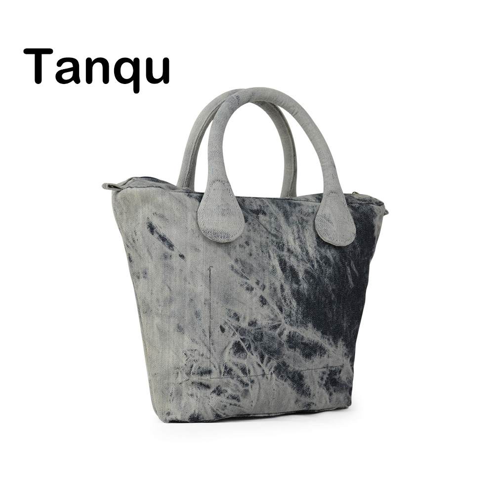 TANQU Short Long Round Denim Canvas Fabric Handle With Insert Lining For Obag Classic Mini O Bag Women's Bags Shoulder Handbag