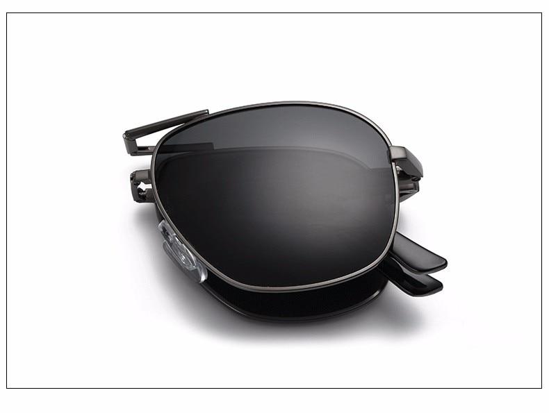 Folding Polarized Sunglasses Pilot Men/'s Foldable Driving Mirrored Sun Glasses