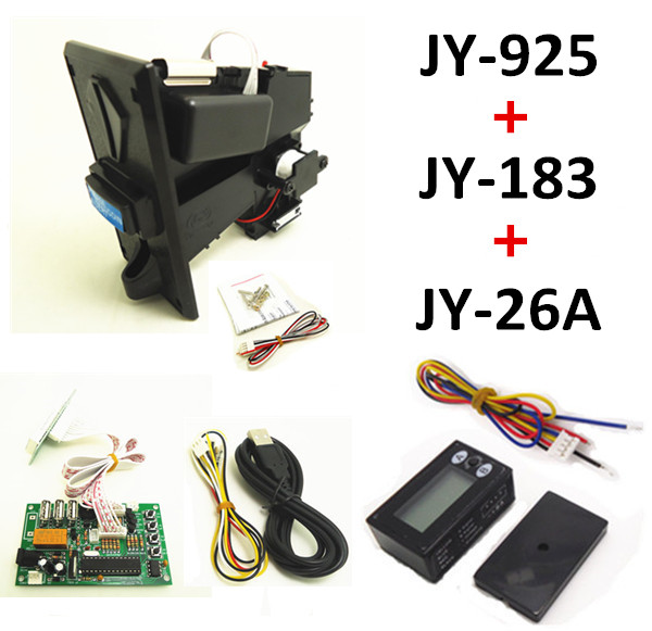 925+JY-183+JY-26A DIY coin operated time control device for USB deivces, multi coin selector with timer board and reset counter цифровая видеокамера jvc jy hm360e jy hm360e