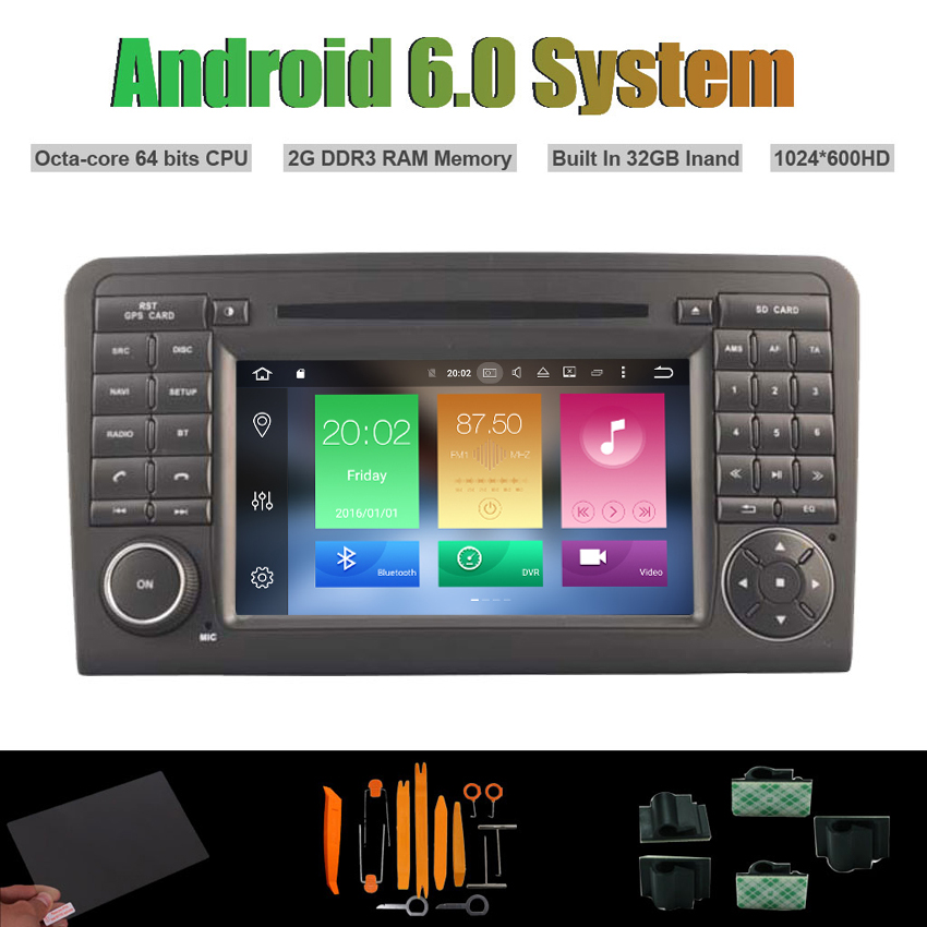 Android 6.0 Octa-core CAR DVD PLAYER for MERCEDES-BENZ ML320/ML,350/W164,GL X164,GL320 A ...