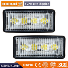GDCREESTAR Rectangular LED tractor work lights OEM R161288, RE306510, RE340681, RE37450 12V 24V sealed beam lights x2pc freeship