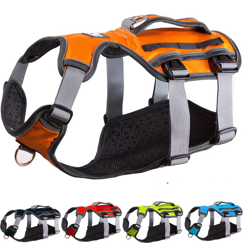 New Dog Harness Training Vest For Medium Big Dogs Adjustable Strong Outdoor Adventure Travel Harness Pitbull Dropshipping 8816