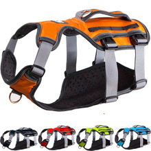 New Dog Harness Träningsvest för Medium Big Dogs Justerbar Stark Outdoor Adventure Adventure Harness Pitbull Dropshipping 8816