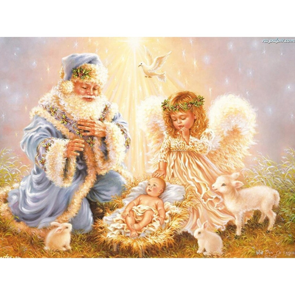 ᗑ3d Diy Elmas Nakis Santa Noel Elmas Boyama Melek Kanatlari