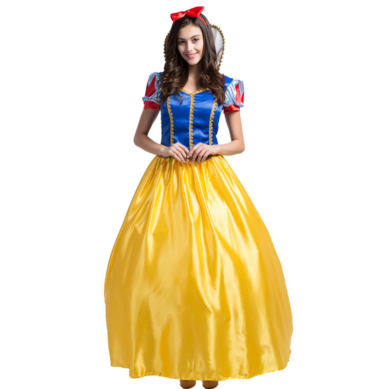 Princess Cosplay Adult Frozen Anna Elsa Role-Playing Costume Pure Summer Dress Fairy Princess Queen Costume Dress Stage Dress