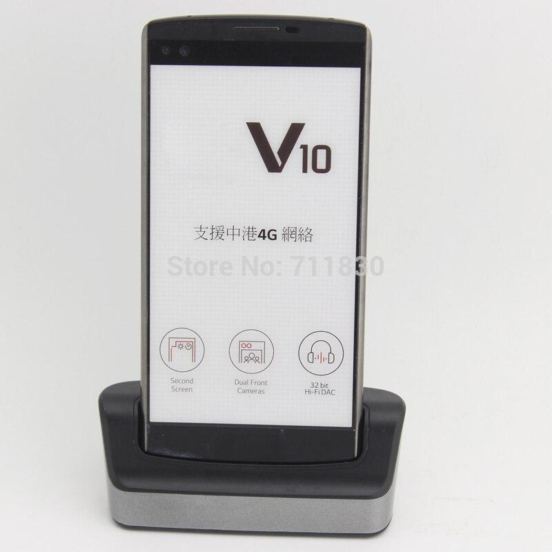 imágenes para Cargador de Batería Para LG BL-45B1F V10 V10 H968 H961 BAK-110 F600 Negro Data Sync Dock Cuna de Escritorio Dual H901 H900