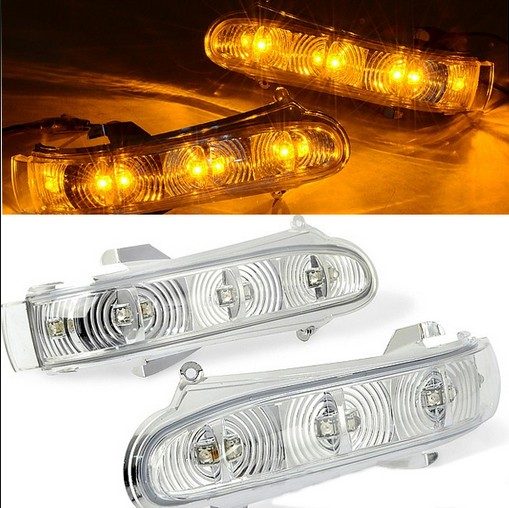 2x front turn signals lights for mercedes benz s class for Mercedes benz side mirror turn signal