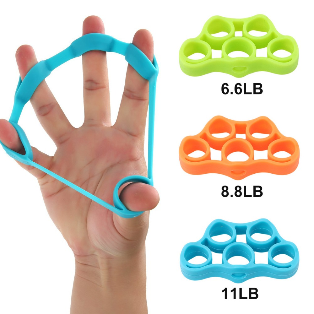 Finger Hand Grip Band Strength Training Stretch Rubber Fitness Workout