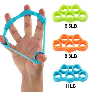 Five fingers Training Rubber Bands silicone Elastic band hand grip ring fingers Stretch exercise Expander finger Resistance Band anti spasticity ball fingers apart hand far infrared impairment finger orthosis vibration massage rehabilitation exercise