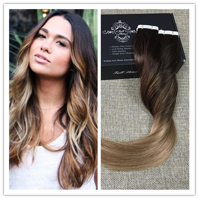 Full Shine 2618 Multi Color Tape In Human Hair Extensions