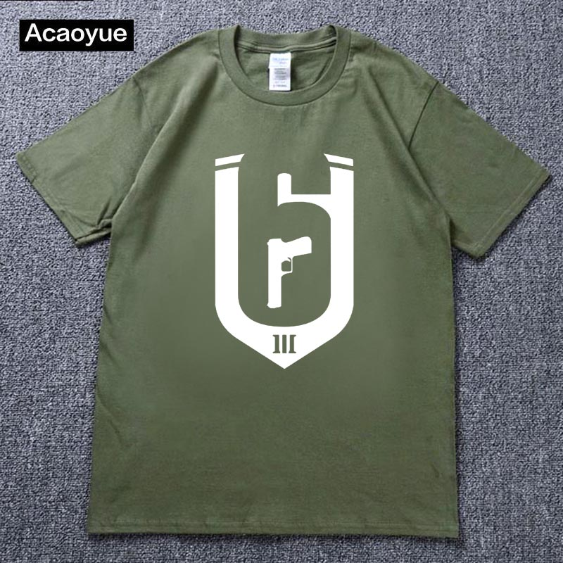 US $8 91 25% OFF|2018 Rainbow Six Siege Operation Chimera Logo Gaming T  Shirts Men Tees video game R6 Siege Outbreak Casual COOL Novelty Fashion-in