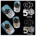 5 unids 11*14mm Nuevo Diseño de Rose 3d Nail Art Decoration Glitter AB Rhinestone Del Arte Del Clavo Clavo de DIY Aleación Accesorios para Uñas HS180