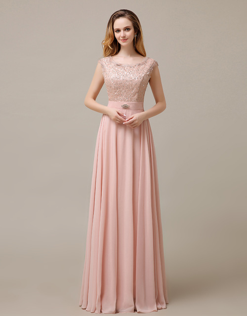 8269f76e63eb2 2016 blush pink long lace modest cheap high waist bridesmaid dress new  arrive hot sale plus