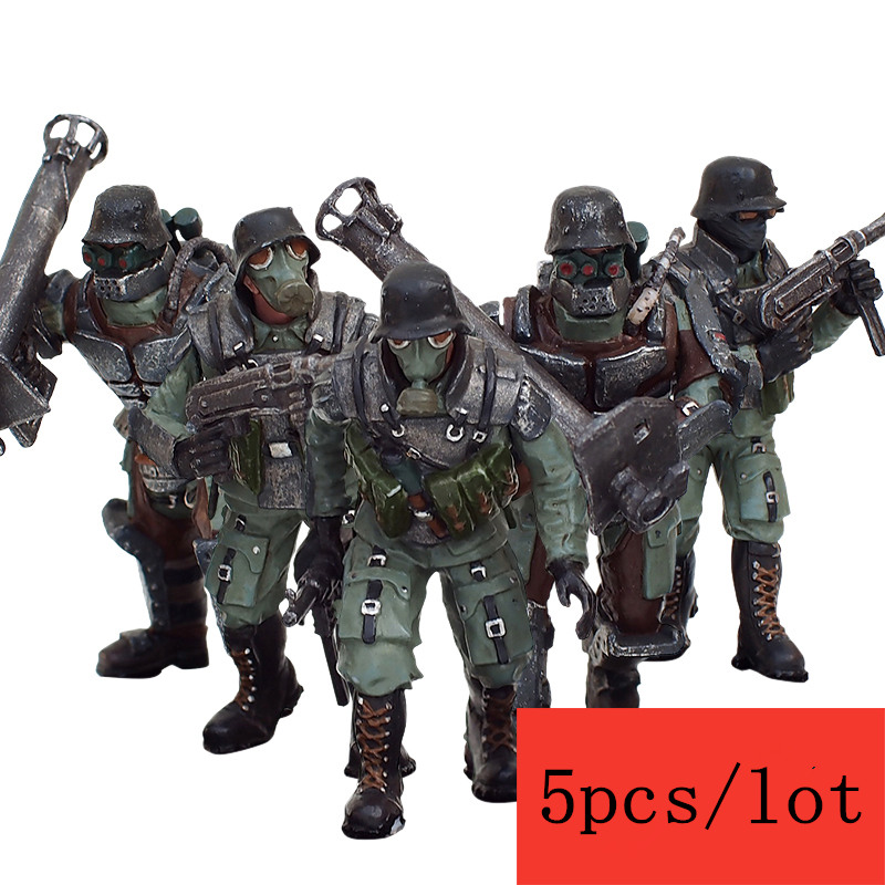 JOY TOY 1:27 action figures PVC Steiner assault group  military model set (5pcs/lot ) Toy for children Free shipping SA-007 free shipping 6 styles cute kids cheese cat action figures mini cat pvc toys figures model toy best decoration for children