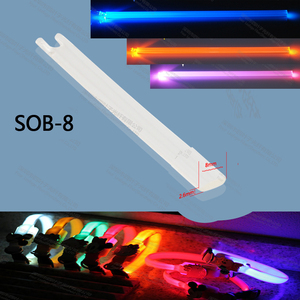 hot sale 2.6 x 8mm rectangular plastic side glow optic fiber light bar for clothes wristband collar lighting