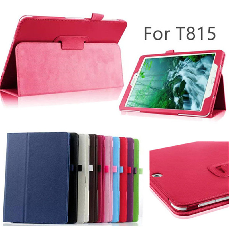 For Samsung Galaxy Tab S2 9.7 SM-T810 T815 Case 9.7 Inch PU Leather Flip Covers Rotating Stand Wake Sleep Protective Tablet Case