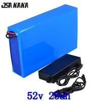 52V batterie 52V 25AH lithium ebike batterie 52v 25ah elektrische roller batterie 52V 25AH lithium-batterie für 48V 2000W 1000W motor