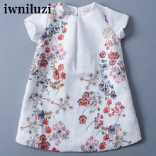 girl dress fashion new children dress kids baby summer full aumunt dress cotton knee length with