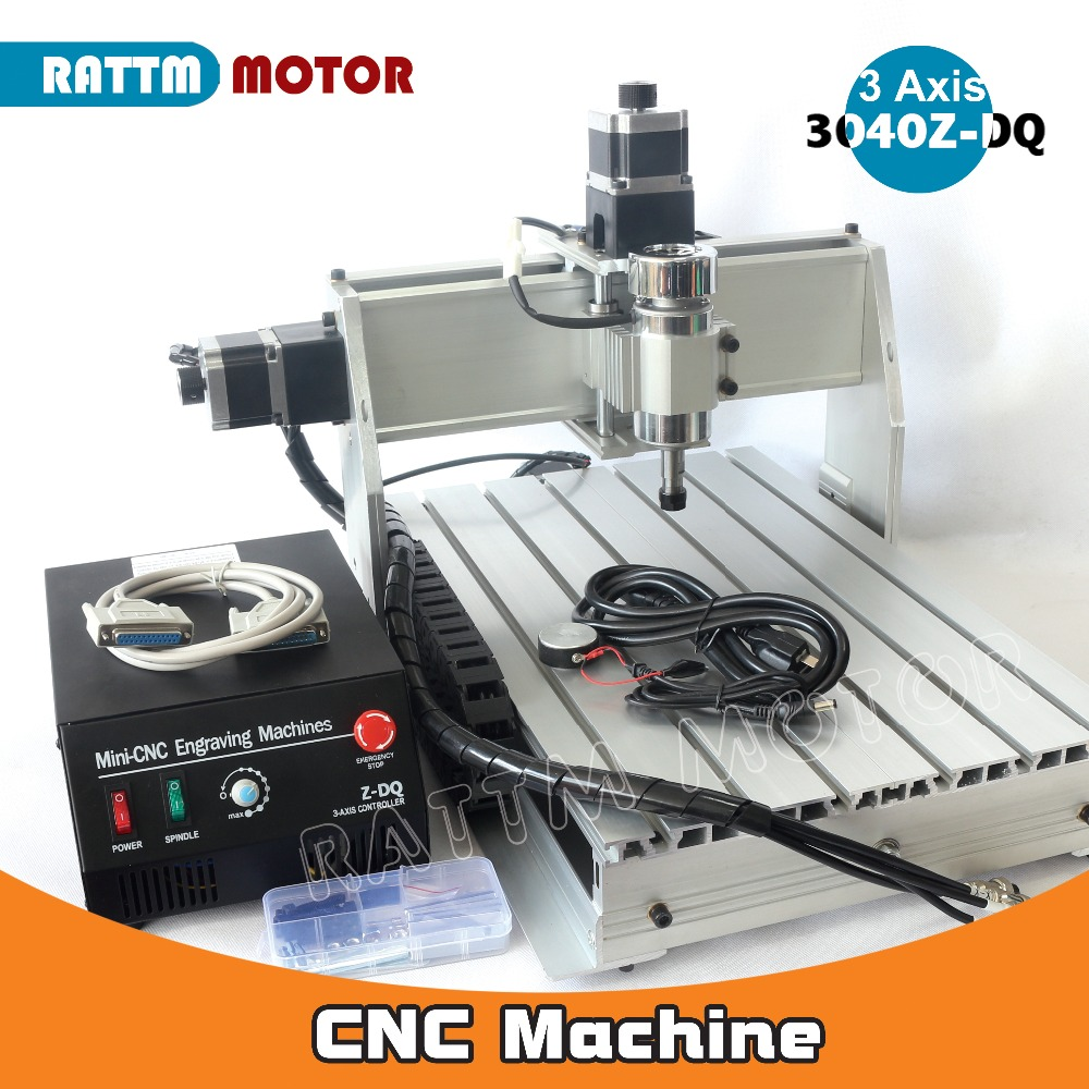 UK/Germany Stock!!! Desktop type 300W 3 axis 3040 CNC ROUTER ENGRAVING DRILLING 1204 Ball screw Parallel/USB Port 3040Z-DQ type jft cnc 3040 router 800w 4 axis parallel port new type high precision easy operate cnc3040 cutting router engraving machine