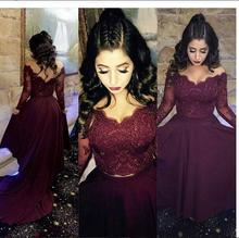 2017 Sexy A-line Two Pieces Abendkleid Abendkleid Neue ankunft Burgund Wine Red Günstige Hallo-lo Prom Kleider Partykleid kleid
