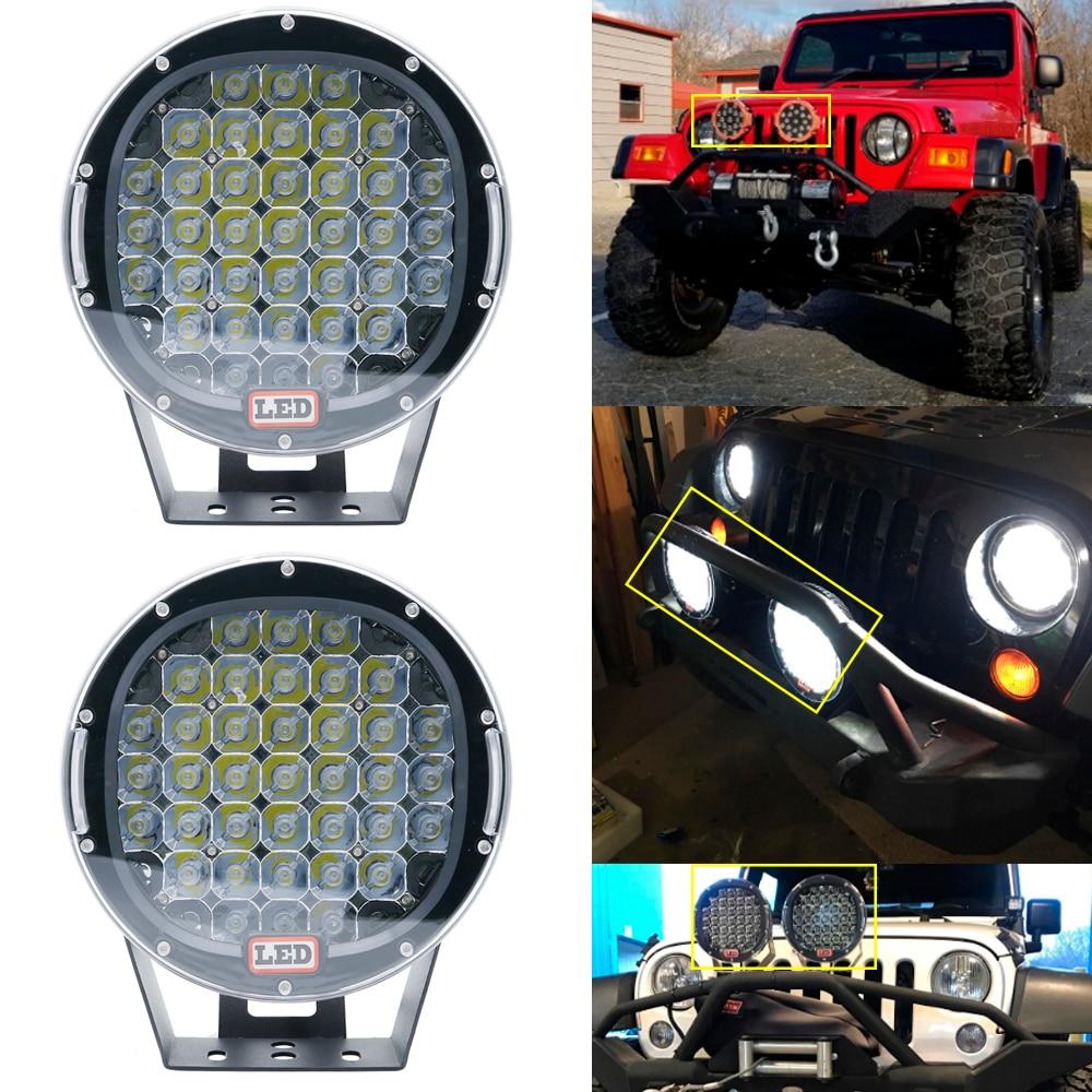 2PCS 9 Inch Led Work Light 12V 24V Spot Flood Offroad Light Bar Indicators For SUV Car Truck Bus Boat Tractor Working Lights (13)