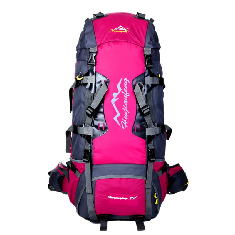 80L Outdoor Sport Camping Hiking Waterproof Bag Climbing Large Capacity Backpack Lightweight Travel Backpack/foldable & Packable wissblue professional climbing backpack camping outdoor backpack cr carrying system hiking gear trekking travel sport backpack