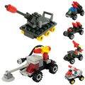 6 estilos engenharia modelo blocos tijolos Vehical carro brinquedos educativos modelo de construção Kits brinquedos infantis brinquedo clássico
