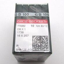 100PCS Groz Beckert DBX1 1738 16X257เข็มจักรเย็บผ้าใช้งานร่วมกับJUKI DDL,BROTHER DB2