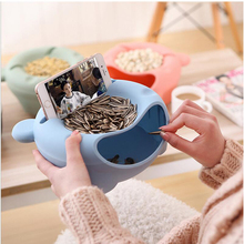 Creative Phone Accessories Melon Seeds Candy Plate Dried Fruit Boxes Storage Box Fruits Organizer Universal Mobile Phone Holder