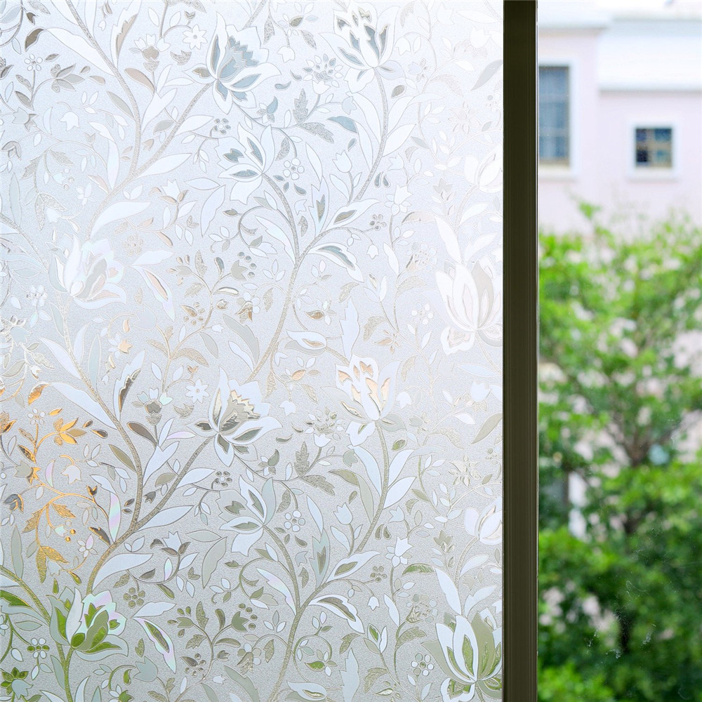 Funlife 90x200cm Excellent Quality 3D Static Cling Window Film Self adhesive Covering Decorative Privacy Sticker