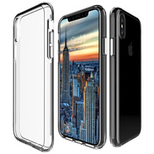 Case For iphone X Transparent Clear Silicone Case Soft TPU Edge + Hard PC Armor Hybrid Back Cover For iphone X Phone Case tpu soft case flash rhinestone edge phone protection case silicone protective cover for iphone 7 transparent gold