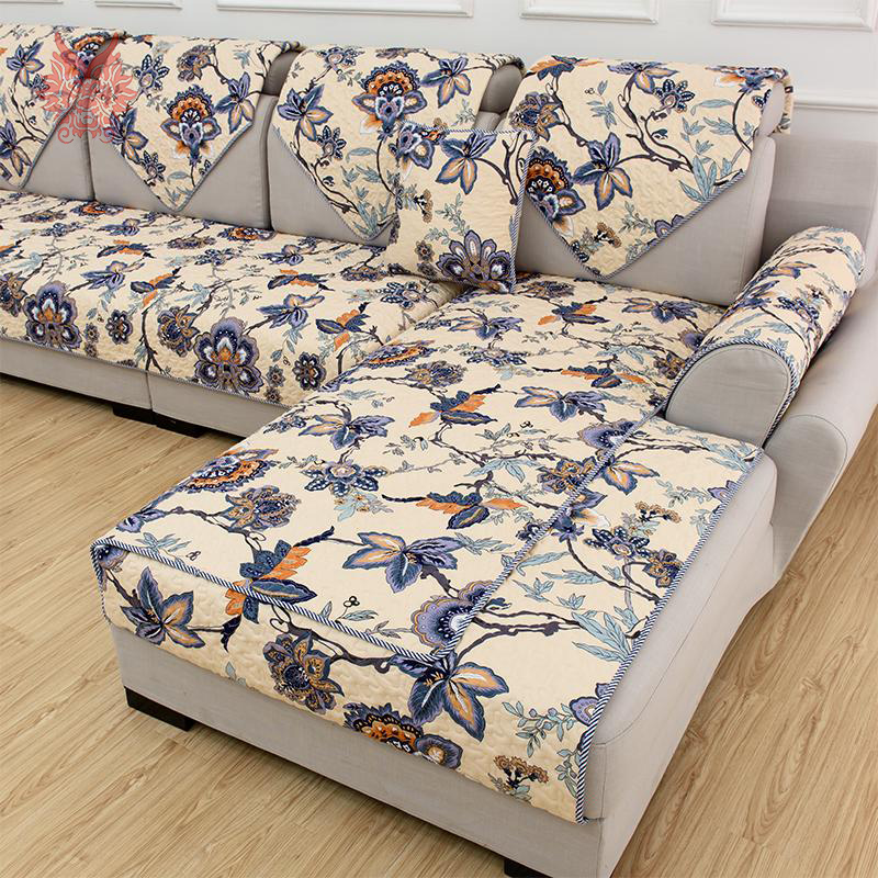 American Style Multi Color Floral Print Quilting Sofa Cover Pure 100%cotton  Sofa Cover Slipcovers For Sectional Sofa SP2467 In Sofa Cover From Home U0026  Garden ...