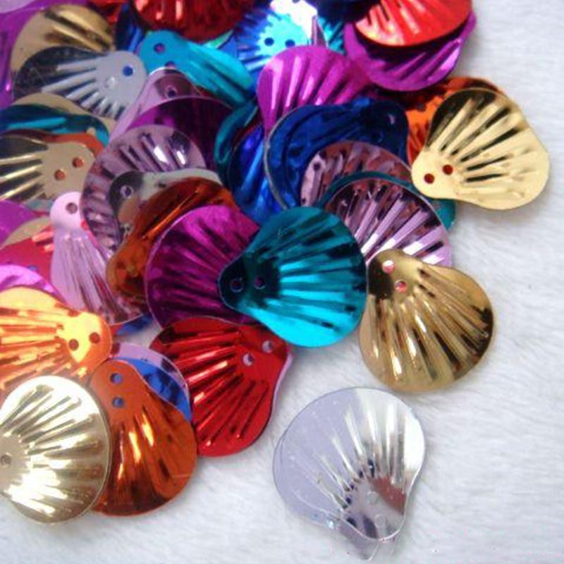 Cirka 1500 Stycken 150g 19mm Shell Paljetter Lösa PVC Paljetter DIY - Konst, hantverk och sömnad - Foto 2