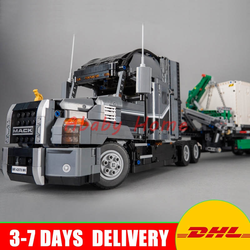 Лепин 20076 натуральная 2907 шт. техника серии Мак большой грузовик набор 42078 строительные блоки кирпичи развивающие игрушки для детей как подар