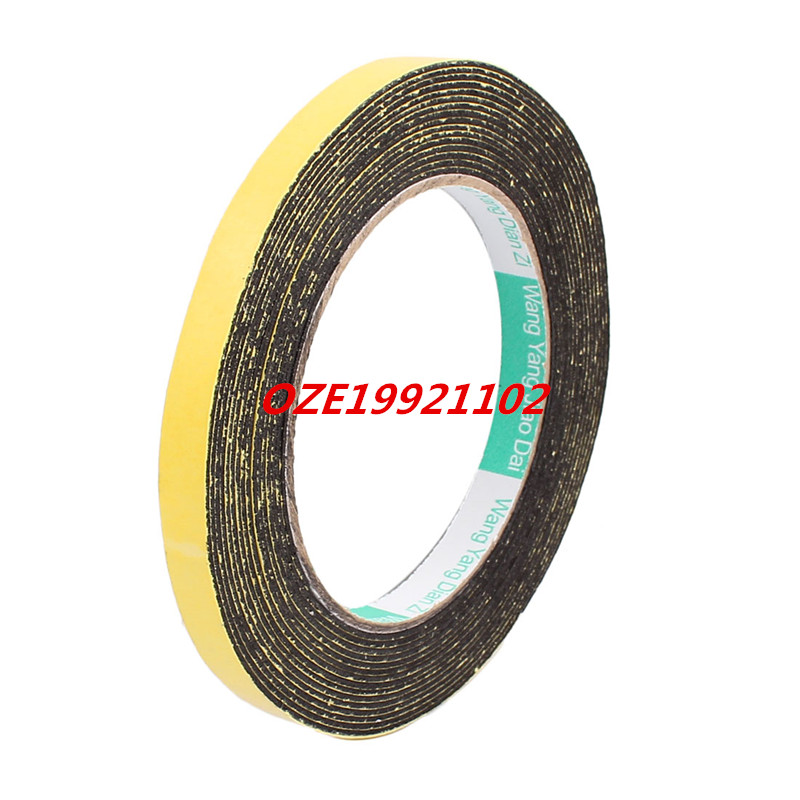 10mm x 1mm Single Sided Self Adhesive Shockproof Sponge Foam Tape 5M Length 2pcs 2 5x 1cm single sided self adhesive shockproof sponge foam tape 2m length