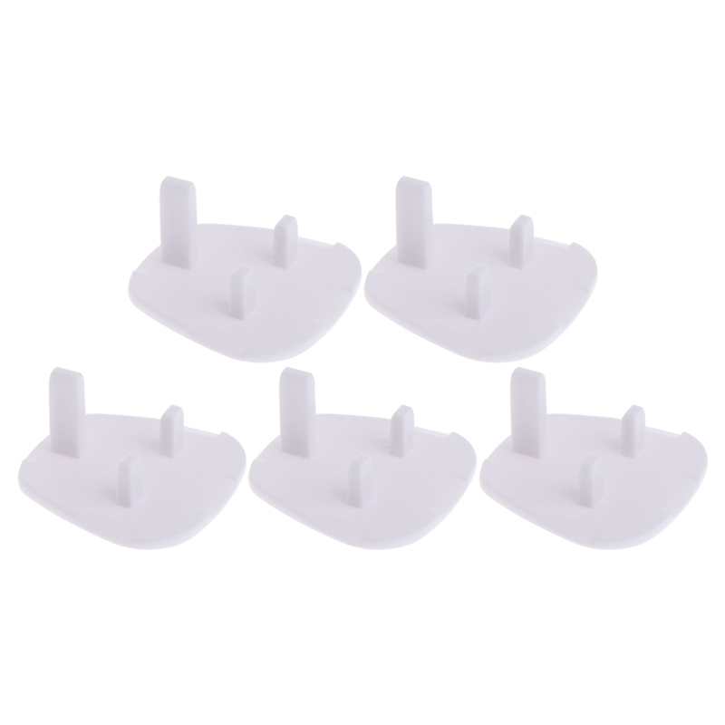 5Pcs UK Power Socket Outlet Mains Plug Cover Baby Child Safety Cover Proof Baby Child Safety Plug Guard Protector-P101