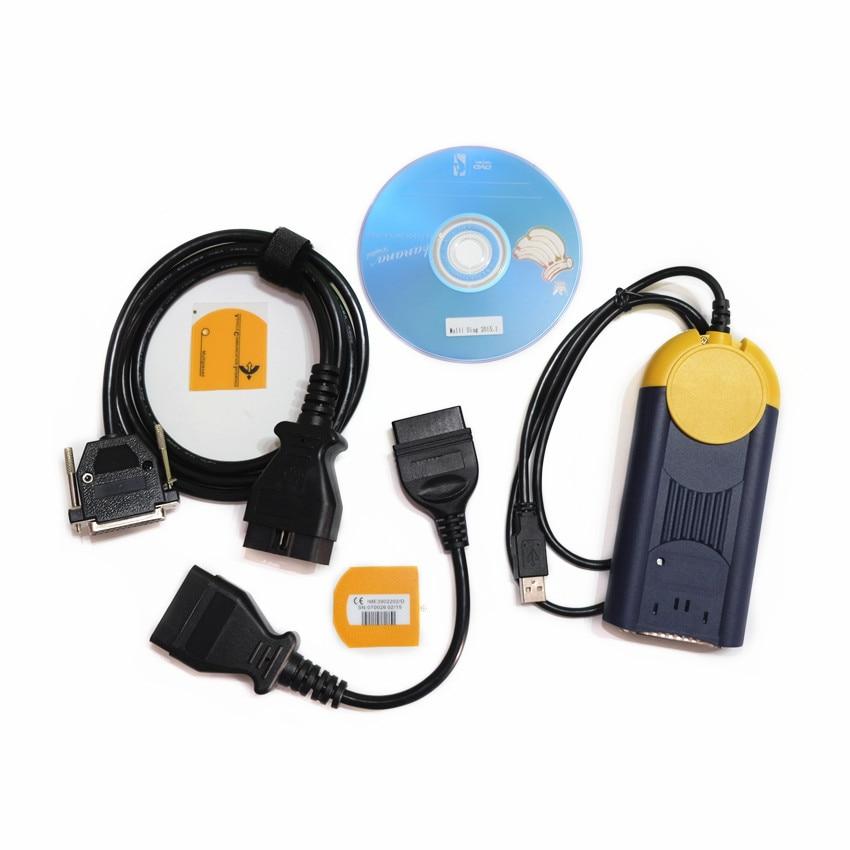 DHL Free Newest V2015.01 J2534 MultiDiag Access J2534 Pass-Thru OBD2 Device actia multidiag Multi Diag Car Diagnostic Tool