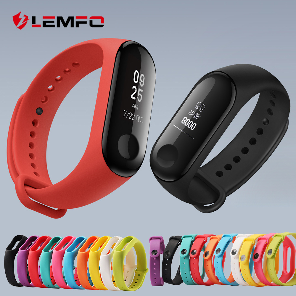 Bracelet Mi-Band Original Wrist-Strap Smart-Accessories Silicone Xiaomi for 3